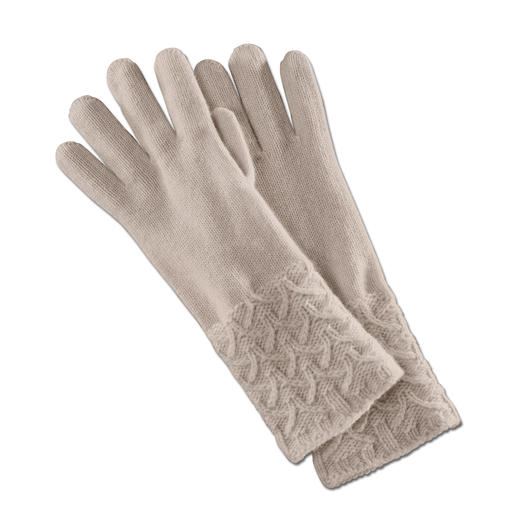Johnstons Cashmere Gloves Exquisite cashmere gloves. Boldly patterned instead of plain or dull.