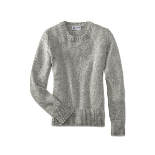 Johnstons 4-ply Cashmere/Tweed Women's Pullover So special, so soft: Soft Donegal tweed pullover made from 100% finest 4-ply cashmere.