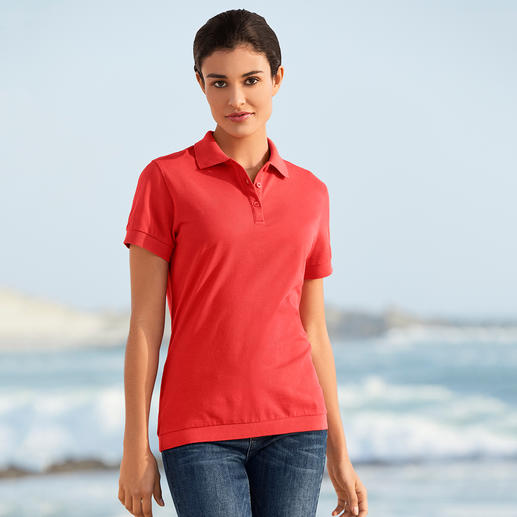 Pima Piqué Polo Shirt, Women Your first luxury polo shirt. Made of handpicked (!) Peruvian Pima cotton.