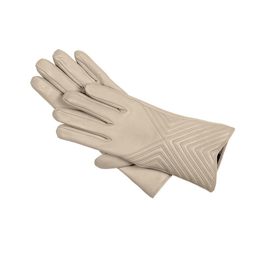 Merola Lamb's Nappa Leather Gloves Luxurious gloves for light-coloured, toning ensembles.