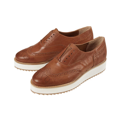 Apple of Eden Brogue Style Slip-Ons Fashionable brogue style slip-ons from Apple of Eden. Premium Portuguese quality at an affordable price.