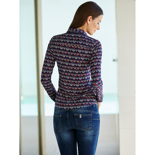 KD-Klaus Dilkrath Jersey Blouse As elegant as a blouse. As comfortable as a shirt.