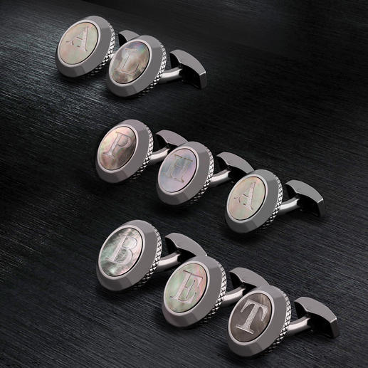 Tateossian Initial Cufflinks - Personal and unique: Mother of pearl cufflinks with your initials. By the King of Cufflinks: Robert Tateossian.