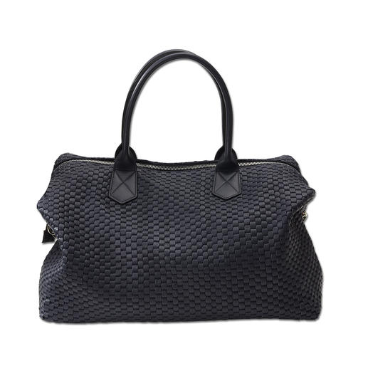 Bruno Parise Weave Bag Traditional bag-making craftsmanship in modern 3D design. Hand made in Italy. Woven cow leather and cotton.