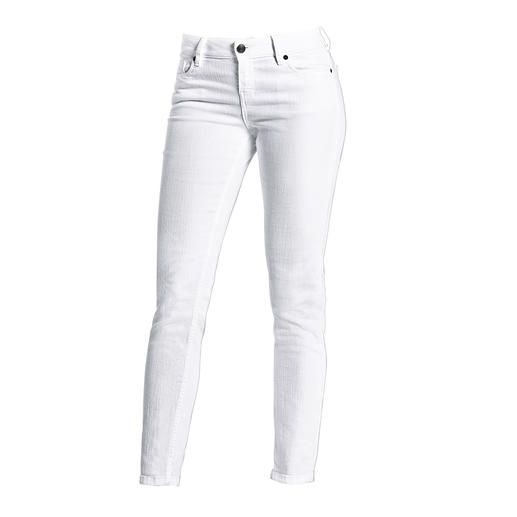 Strenesse White Business Jeans Jeans for the office? Very few really make the cut. Crisp white. Clean cut. Perfect fit. By Strenesse.