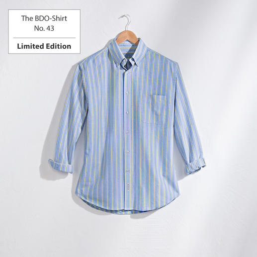 The BDO-Shirt No. 43, Striped Meet a good old friend. And forget that shirts always need ironing.