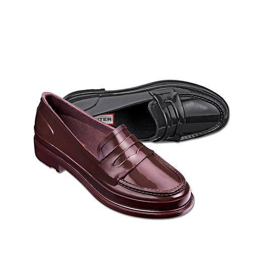 Hunter Penny Loafer Stylish. Waterproof. Very comfortable. The penny loafer made from 100% natural rubber. By Hunter.