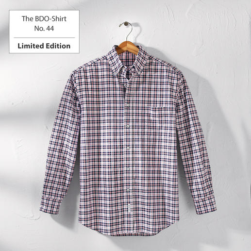 The BDO-Shirt No. 44, Checkered Meet a good old friend. And forget that shirts always need ironing.