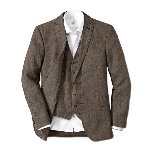Carl Gross Linen Sports Jacket or Waistcoat Look a true gentleman – even when it's over 30 degrees. A rare find: A two-piece ensemble made of pure linen.