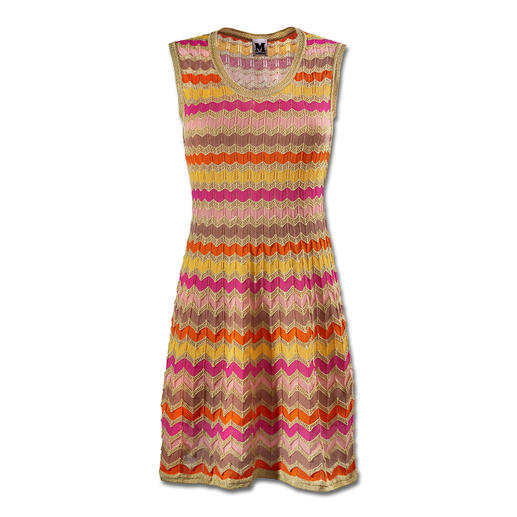 M Missoni Wave Knit Dress, Candy Colour M Missoni's wave knit classic in contemporary summer trend colours. Perfectly fashioned Dress.