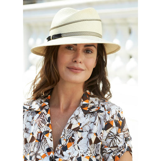 "Mayser Women's Panama Hat You can now leave ""his"" Panama in the wardrobe. With UV protection 40. By Mayser."