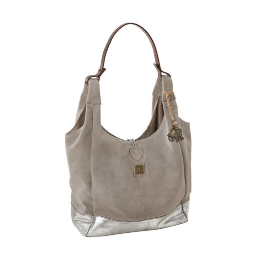 Anokhi Hobo Bag, Stone grey - Light and casual. Convenient and easy to combine (at an affordable price!)
