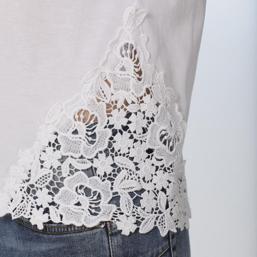 Liu Jo Basic Lace Top So much more than just a basic white top. The lace top by Liu Jo, Italy.