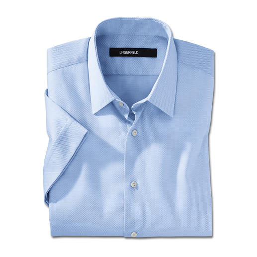 Lagerfeld Short-Sleeved Honeycomb Shirt A stylish novelty: The short-sleeved shirt by Lagerfeld.