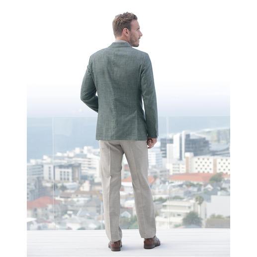 Eduard Dressler 2017 Summer Blazer The 2017 spring/summer blazer: In muted green, with an original texture. Lightweight summer cloth.