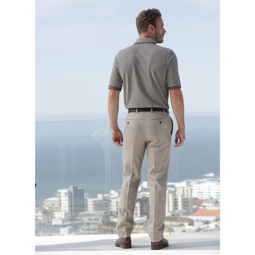 "Hoal Cloth Trousers ""Tropical"" Suitable for work. Summery and light. Modern cloth trousers with silk and linen."