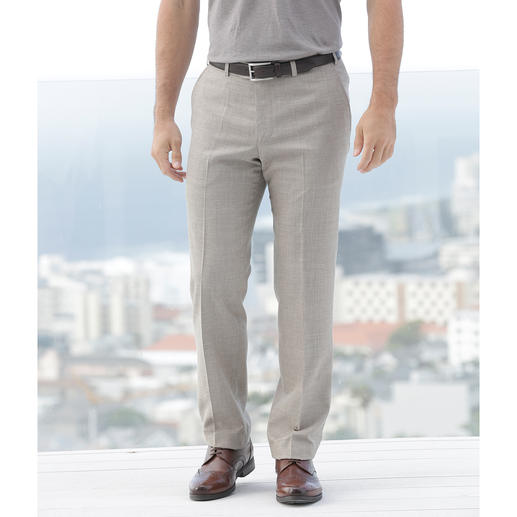 """Hoal Cloth Trousers """"Tropical"""" Suitable for work. Summery and light. Modern cloth trousers with silk and linen."""