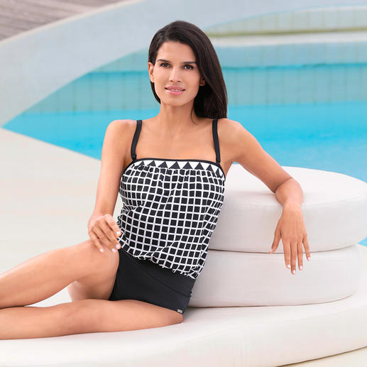 Opera® Comfort Tankini Loosely draping tankini with removable straps. From the specialist Opera®.