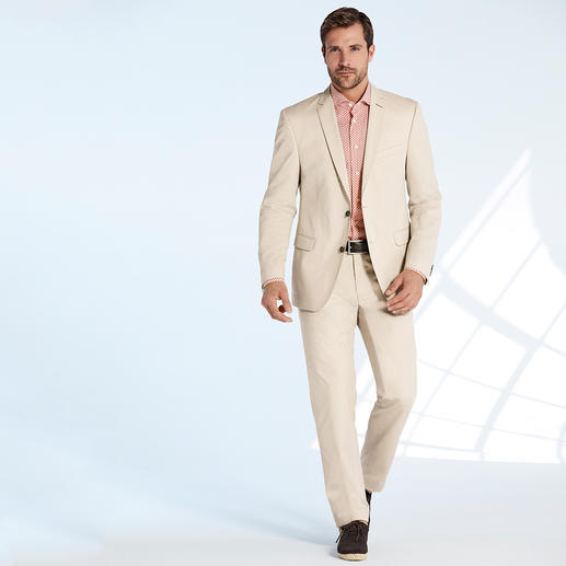 "Carl Gross Cotton Suit ""Ceramica"" The ideal suit for business and travelling, in summery cotton that barely creases. By Carl Gross."