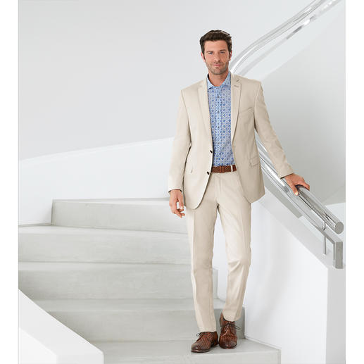 """Carl Gross Cotton Suit """"Ceramica"""" The ideal suit for business and travelling, in summery cotton that barely creases. By Carl Gross."""
