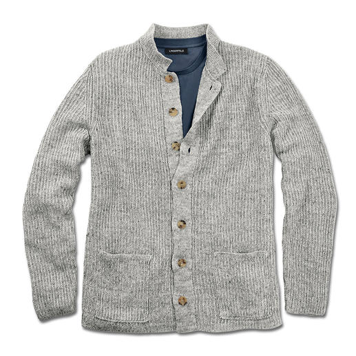 Inis Meáin Pub Jacket - A classic for more than 30 years: The pub jacket by Inis Meáin. Traditional knitted art made in Ireland.