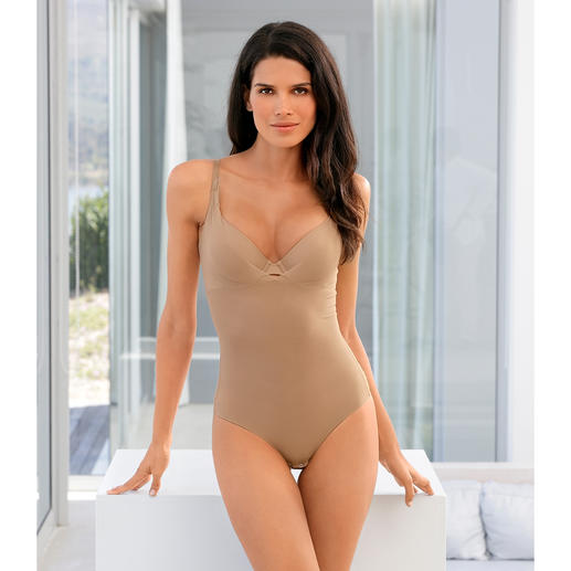 Shaping Summer Body Gently shaping and wonderfully lightweight and airy. Shaping body made from breathable, woven mesh fabric.