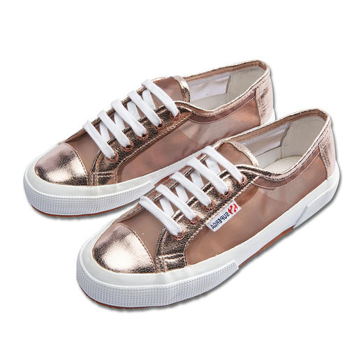 Superga® Metallic Mesh Sneakers With added Italian nonchalance: The Superga® 2750. Particularly popular with metallic mesh this season.