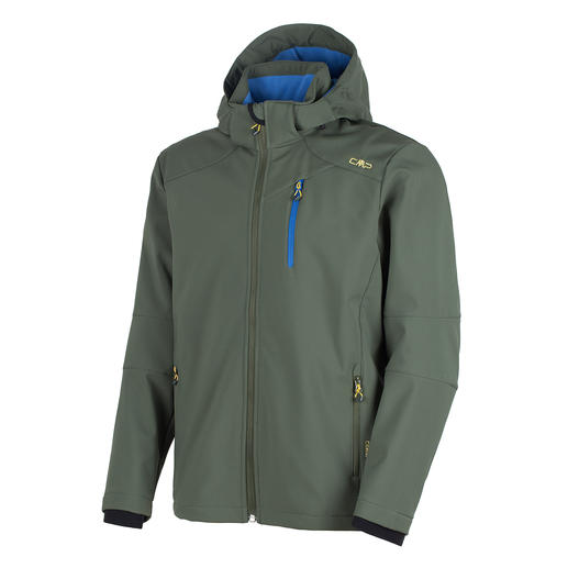 Soft Shell Jacket for Men, Olive Slim, lightweight, yet warm. Jacket made of Soft Shell, with WindProtect®.