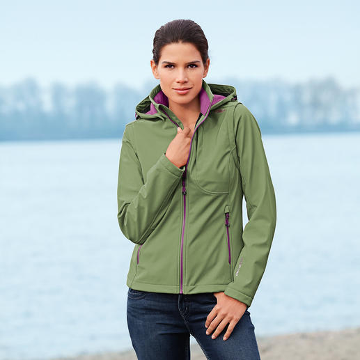 Soft Shell Jacket for Women Slim, lightweight, yet warm. Jacket made of Soft Shell, with WindProtect®.