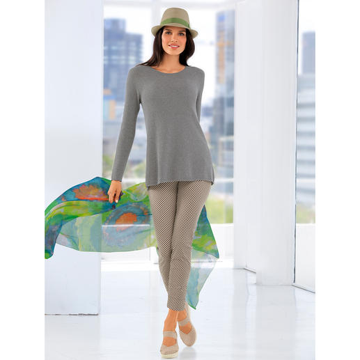 Giza Seamless Pullover - The summer favourite among cotton pullovers. Crêpe Giza cotton.
