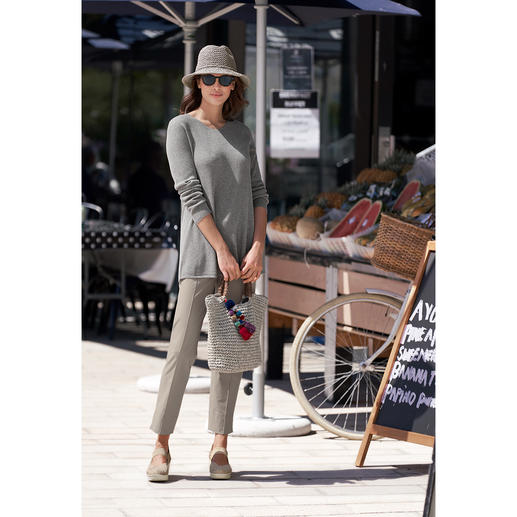 Fedora and Bag, Grey