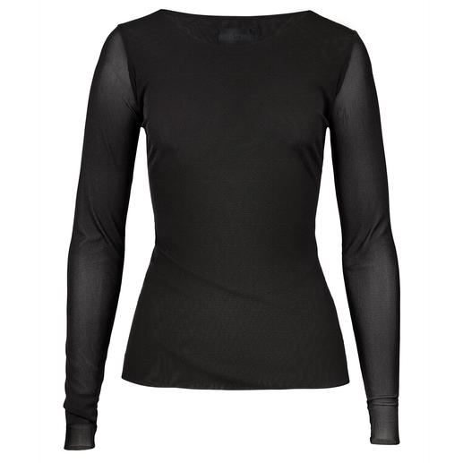 Barbara Schwarzer Basic Long-Sleeved Top A basic top to go with any look. Casual, suitable for the office. Design: Barbara Schwarzer, Düsseldorf.