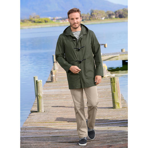Gloverall Summer Duffle Coat for Men The lightweight summer version of the good old duffle coat. By Gloverall.