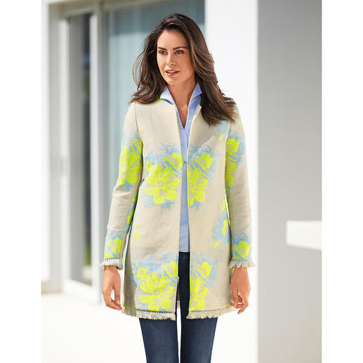 All Yours Ethnic Long Jacket Fashionable ethnic style. Latest long shape. More combinable than most jackets of this style.