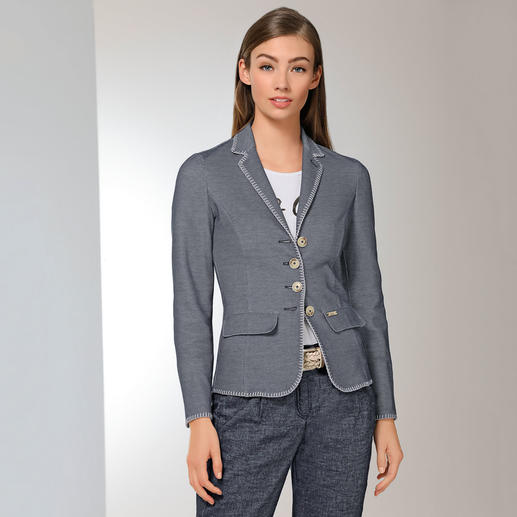 Luis Trenker Honeycomb Blazer The trendy cotton blazer thanks to the honeycomb structure and narrow cut.