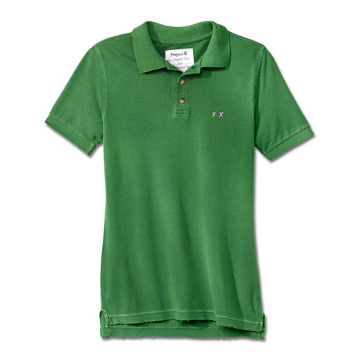 "Project E-Polo The polo shirt favoured by the stars. The ""distressed"" polo shirt."