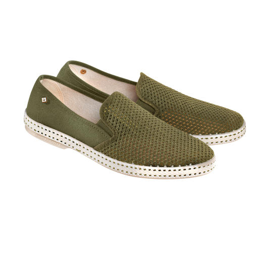 Rivieras Summer Loafer An airy cult loafer celebrates its fashion comeback – with all of today's comforts.  By Rivieras.