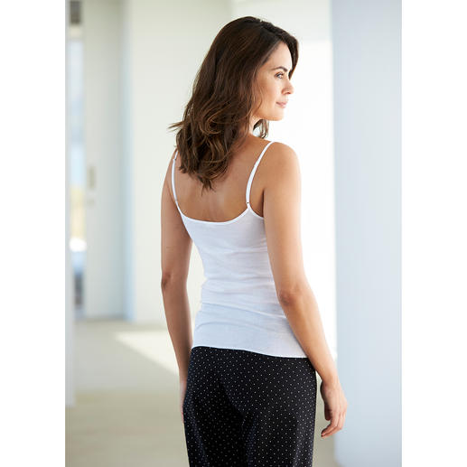 Zimmerli Lace Top Too pretty to hide under clothes. A delicate top with St. Gallen lace. By Zimmerli.