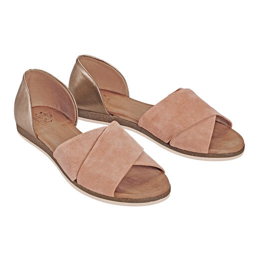 Apple of Eden Cross Strap Sandals, Apricot A fashion essential. More elegant than most. At a very fair price. Apple of Eden.