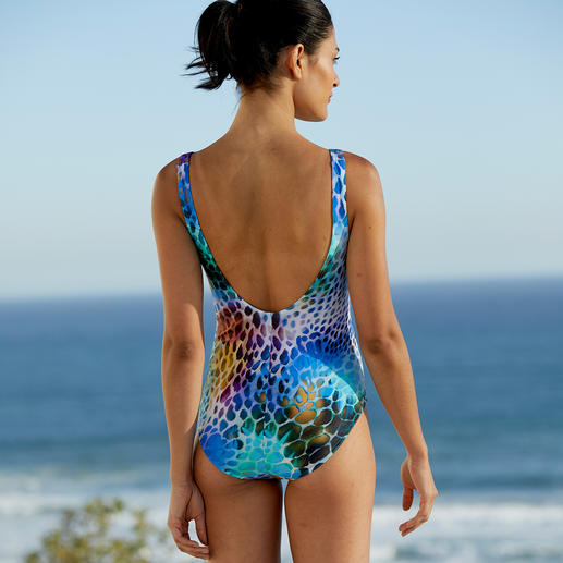 "Swimsuit ""Animal Print"" With Slimming Effect More slimming thanks to 20% Xtralife-Lycra®. Visually flattering thanks to a clever pattern and cut."