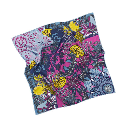 Sieger Silk Velvet Scarf A colourful silk velvet scarf. Endless mix and match options. By Sieger.