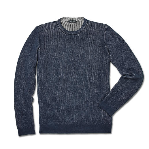Phil Petter Purl Knit Pullover Refined bicoloured look. Interesting texture. Pleasantly airy. Purl knit pullover by Phil Petter, Austria.