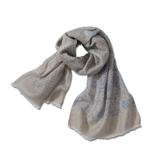 Pellens & Loick Scarf with a mix of Patterns The elegant one among fashionable scarves with mixed patterns. German design made in Italy.