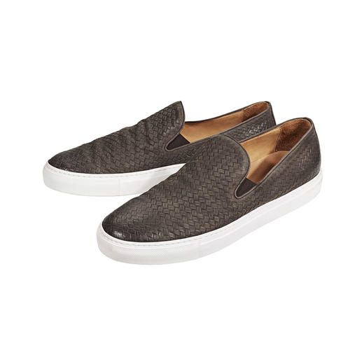 Bernacchini 1905 Braided Slip-Ons Contemporary design, a modern look and exquisite quality made in Italy. By Bernacchini 1905.