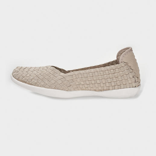 "Bernie Mev. Plaited Ballerinas The fashion sensation from New York: Plaited ballerinas by the ""King of woven Footwear"", Bernie Mev."