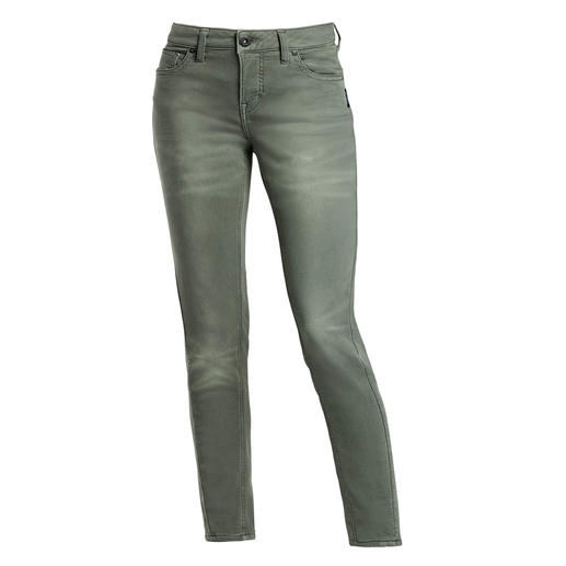 Silver® Jersey Jeans Authentic jeans appearance, but with the feel of yoga trousers. Exceptionally fine jeans, by Silver®, Canada.