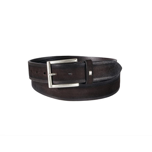 Andrea Zori Calf Suede Leather Belt A rare find: A basic suede leather belt made of the best calfskin shoe leather. Made in Italy.