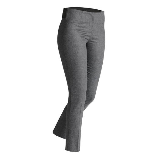 Les Copains Flannel Stretch Trousers Fashionable slim-style in shorter length – ideal for numerous trendy outfits.