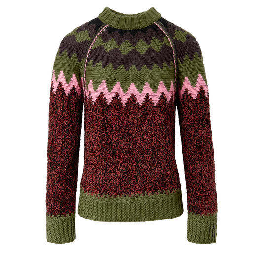M Missoni Nordic Pullover A stunning eye-catcher that's incredibly lightweight. The Nordic pullover from the M Missoni collection.