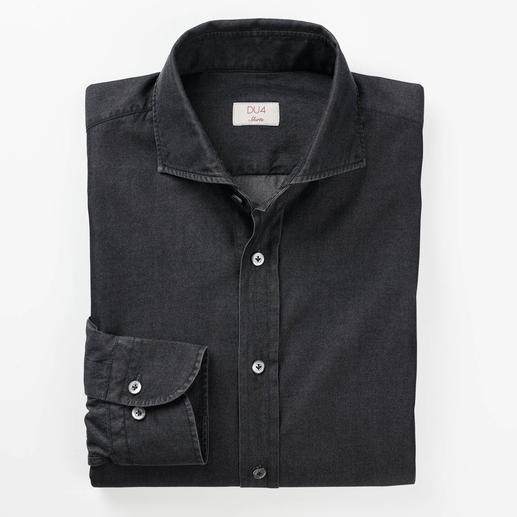 Dufour Smart Denim Shirt Chic 4.5oz 2-ply denim. Much finer, lighter and smarter than conventional denim.